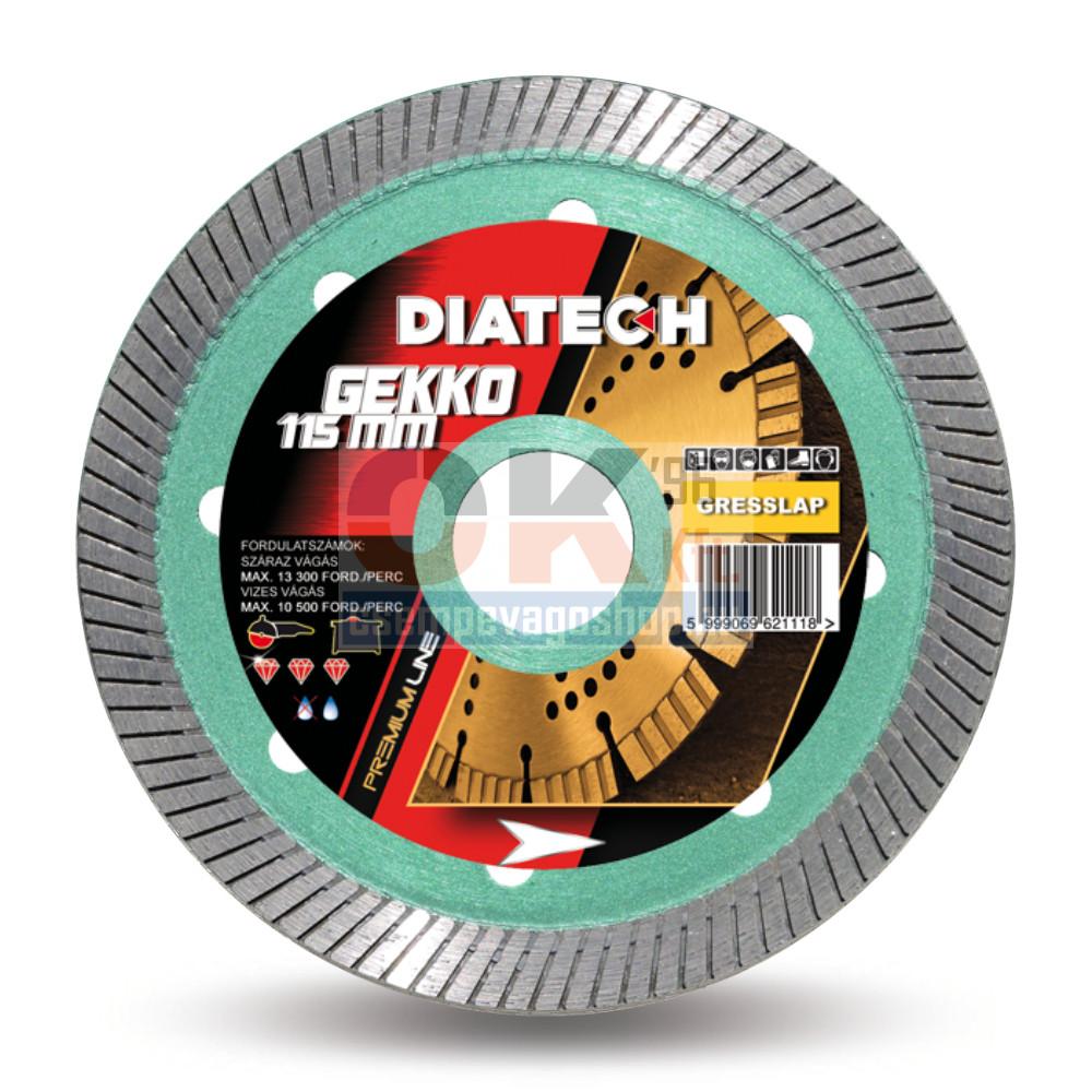 Diatech gyémánttárcsa GEKKO csempe, greslap, járólap vágására 22,2×125mm (gk125)