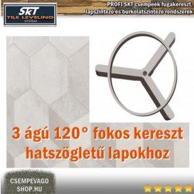 SKT 3 ágú fugakereszt, szintezős keresztek, hatszögletű lapokhoz