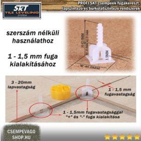 SKT csavaros lapszintező, 1-1,5mm fuga, 3-20mm laphoz