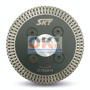 SKT PROFI vékony gyémánttárcsa száraz vágáshoz   M14  75×1,2×10mm (skt521075)