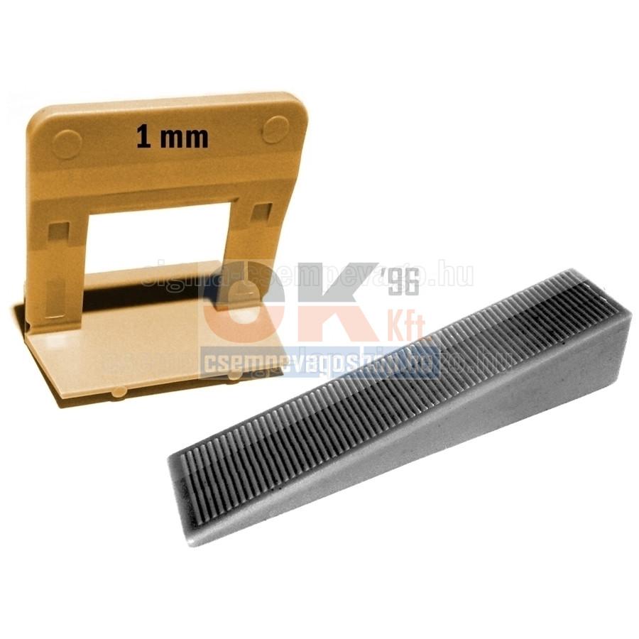 SKT20 ÉKES lapszintező, 100db ÉK + 200db TALP, 1mm fuga, 5-15mm laphoz (skt2011cs11)
