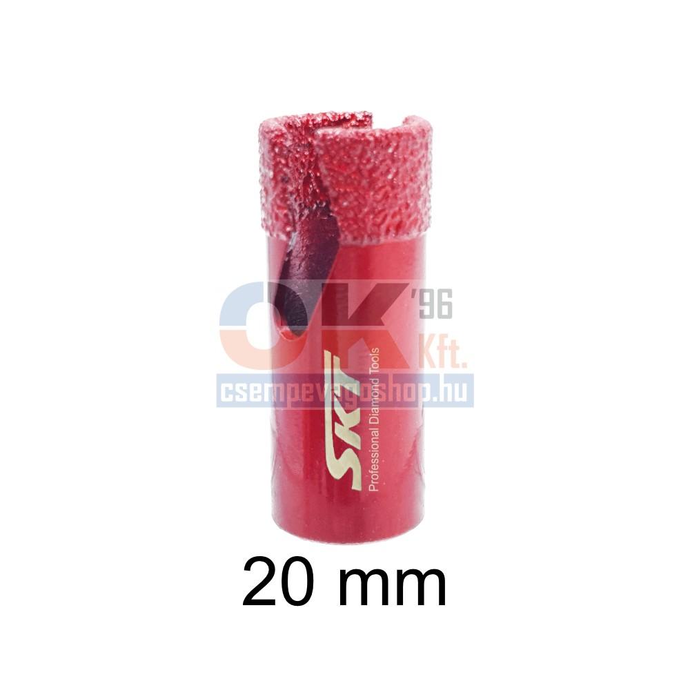 SKT gyémántfúró, gyémánt lyukfúró sarokcsiszolóra száraz / vizes 25 mm (skt315025)