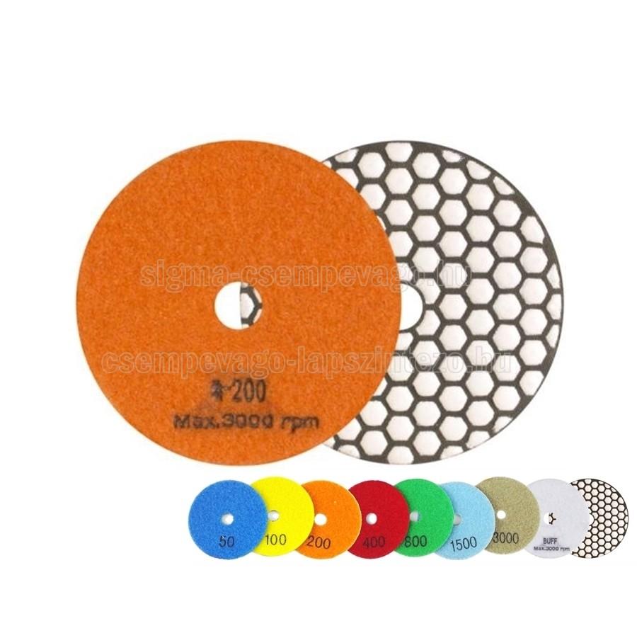 SKT gyémántszemcsés polirozótárcsa P200 , D125mm száraz használat (skt425200)